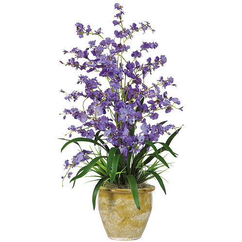 Triple Dancing Lady Silk Flower Arrangement #1070-PP