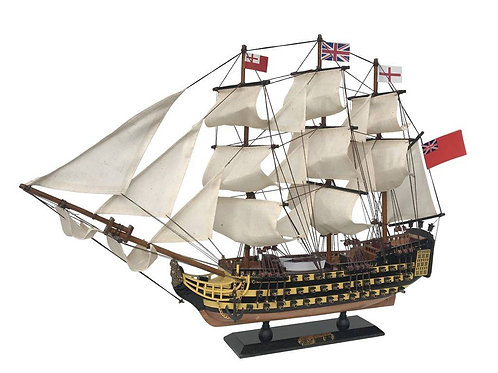 "Wooden HMS Victory Limited Tall Model Ship 24"" long"