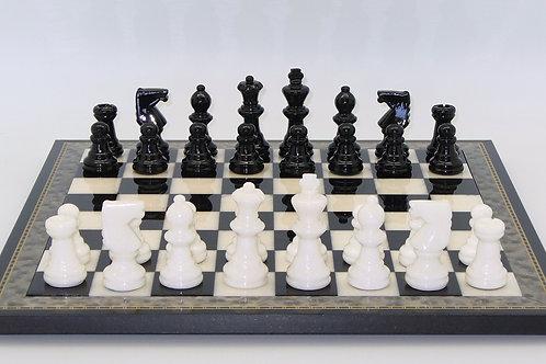Black and White Alabaster Wood Frame Set by Scali NS155BK