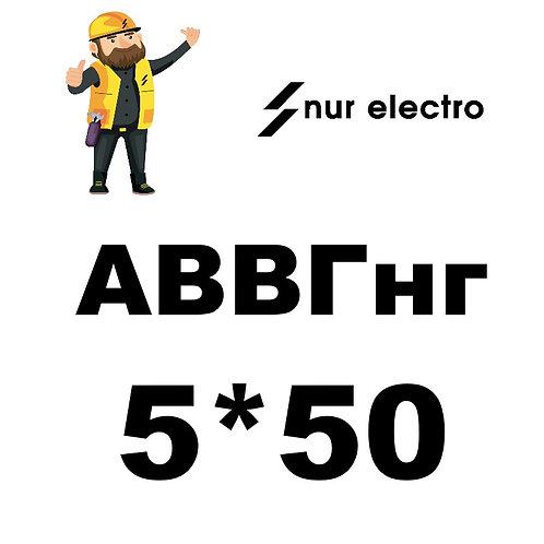 Кабель АВВГнг 5*50