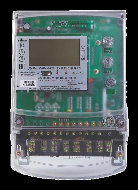 Электрический счетчик трехфазный многотарифный ДАЛА САР4-Э721 ТХ Р PLC IP П RSNL