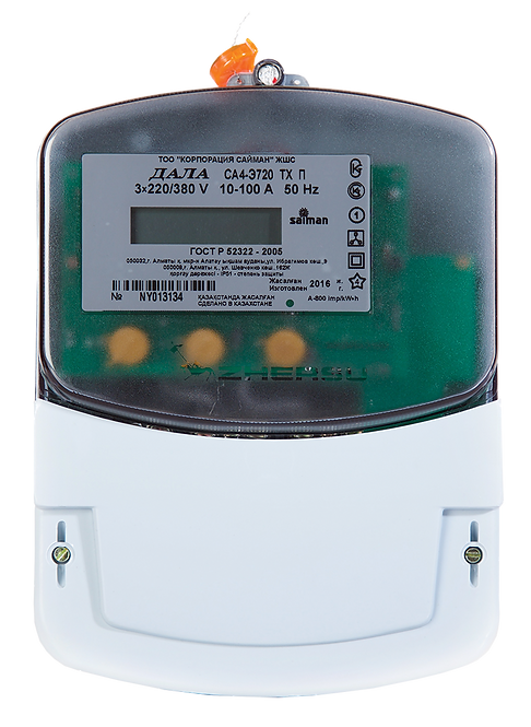 Электрический счетчик трехфазный многотарифный ДАЛА СА4-Э720 ТХ П КОД NY