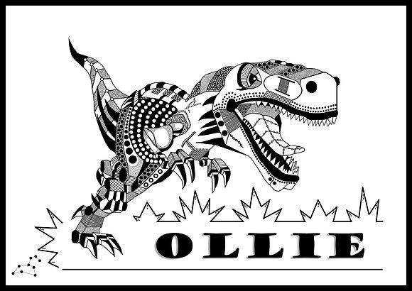 Dinosaur Nameplate