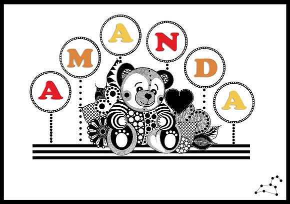 Teddy Nameplate