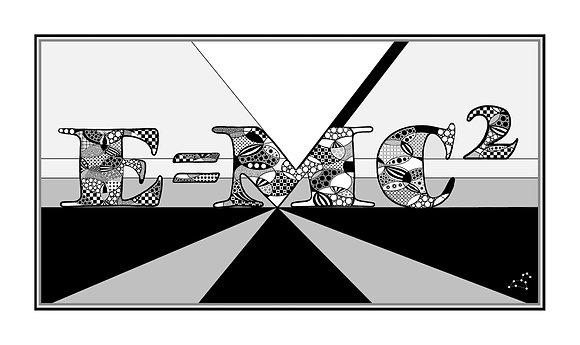 E=MC2 Black