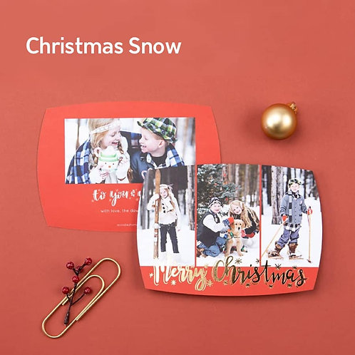 """""""Merry Christmas Snow"""" - Photo Holiday Cards (set of 25)"""