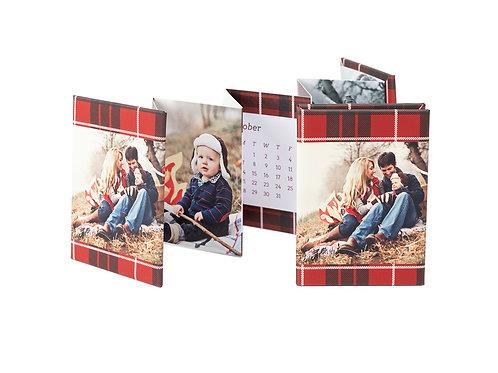 "Mini Accordion - 2019 ""Red Plaid"" Calendar"