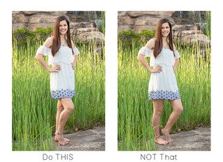 Instant Fix to Slimmer Legs in Photos