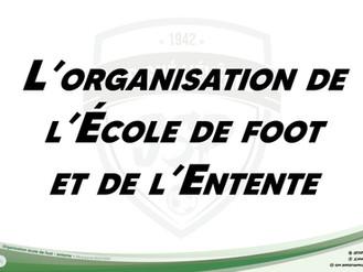 Organisation Ecole de foot - Entente 2021-2022
