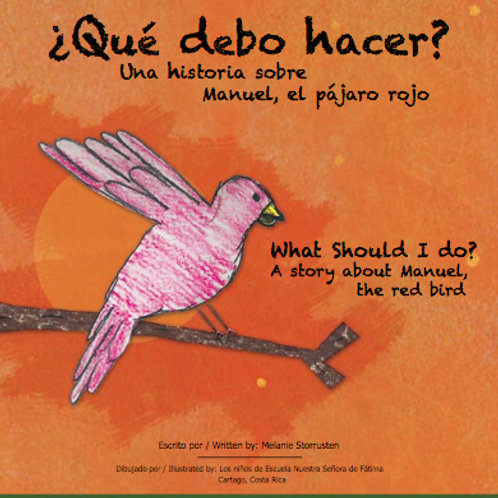 "Children's Book: ""Que Debo Hacer? A Story About Manuel, The Red Bird"""