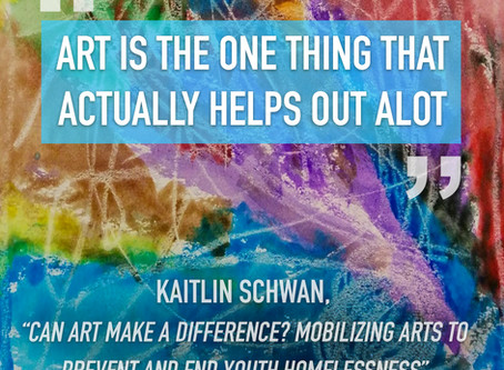 How does art help homeless children?