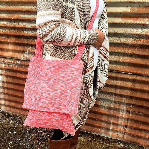 Heathered-Flamingo Crossbody