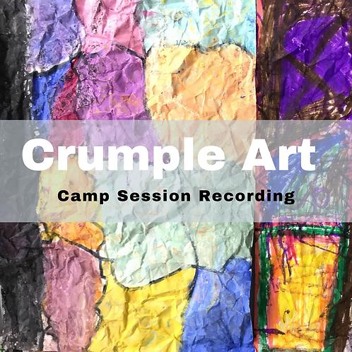 Virtual Session Recording-Crumple Art