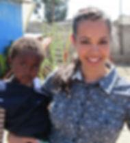 Jennie Lobato with Ethiopia baby