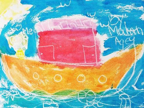 My Adventure Boat Print