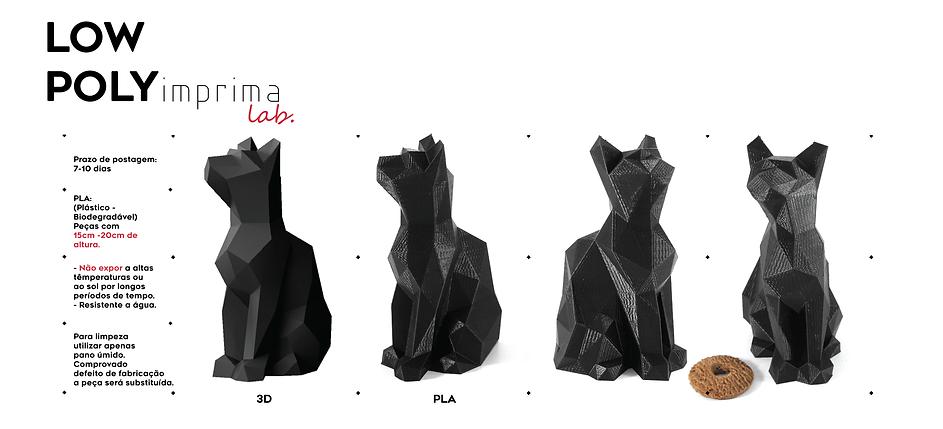 Linha Low Poly Impressão 3d - Imprimalab