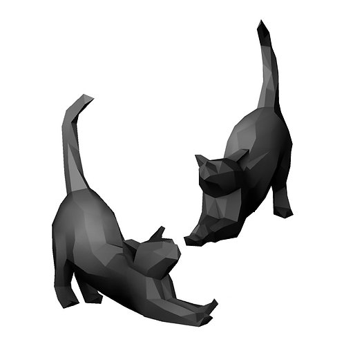 Gato Preguiça LOW POLY