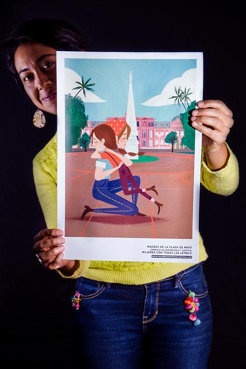 Afiche Mujeres con todas las letra-z
