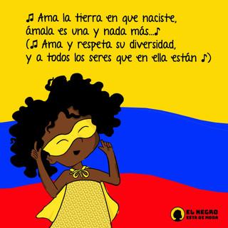 Que compartir una patria, una bandera, y el orgullo de nacer en Colombia se viva cada día valorando todos los saberes, sabores, colores, olores, dolores que hacen parte de nuestra diversidad.