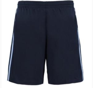 a pair of long black gym shorts