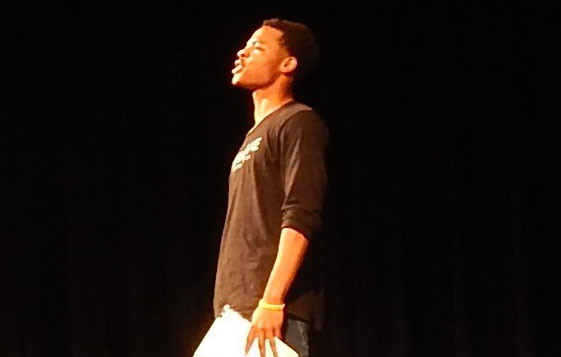 2.Hamlet (Isaiah Battle) monologues in his grief and depression.