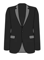 black cartoon blazer