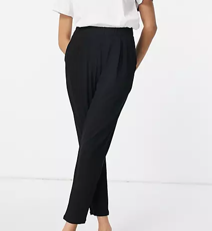 a pair of black women's trousers that stop just above the ankle