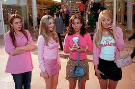 Cast of Mean Girls: Cady Heron (Lindsay Lohan); Karen Smith (Amanda Seyfried); Gretchen Wieners (Lacy Chabert); Regina George (Rachel McAdams)