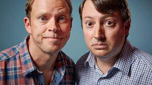 Peep Show characters Mark Corrigan (David Mitchell) and Jez Usbourne (Robert Webb)