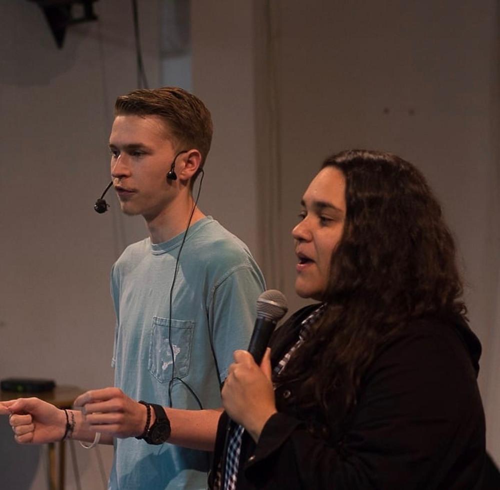 Jake Heffner preaching in Brazil