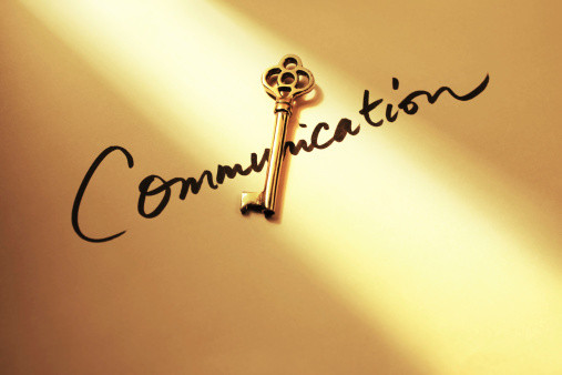 communication with a key on top