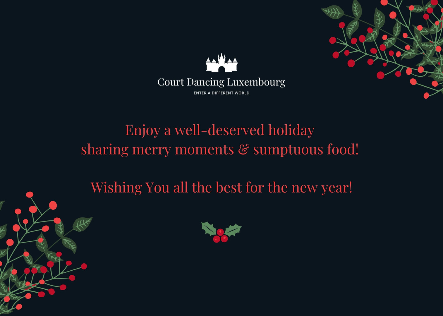 Court Dancing Luxembourg Holidays Card.m