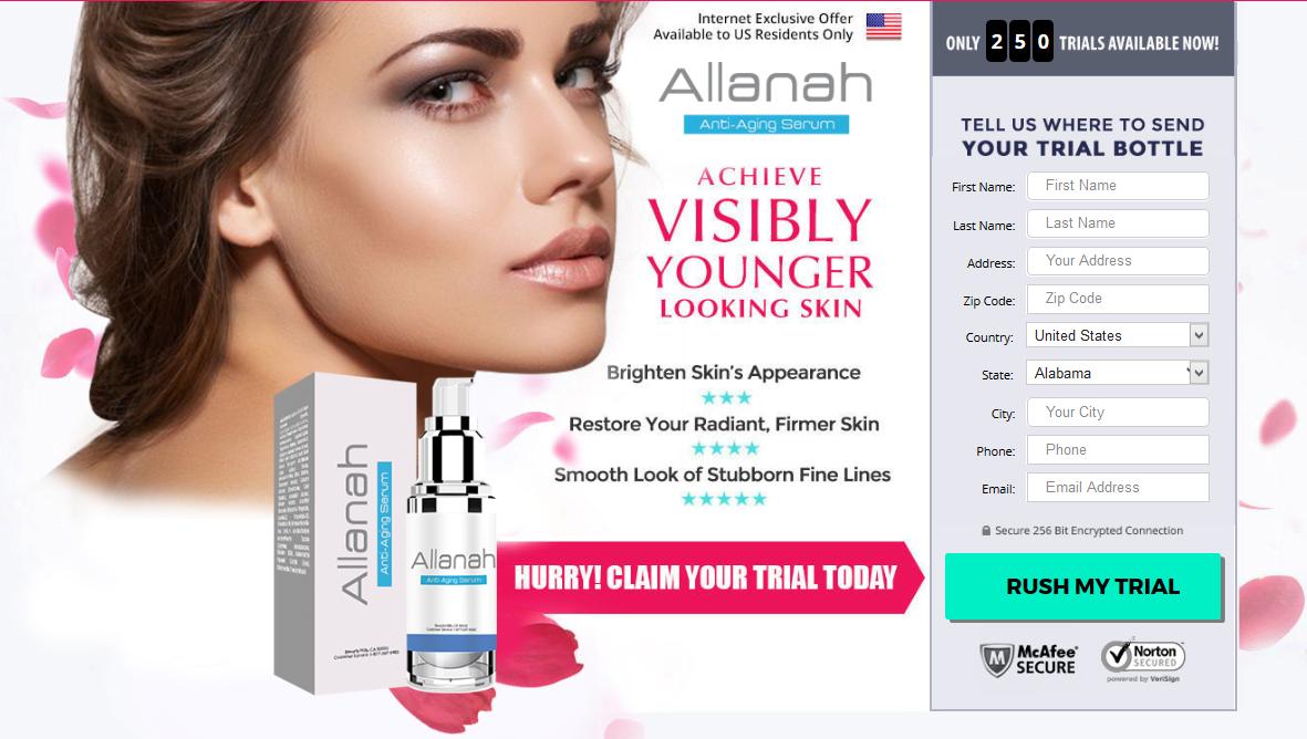 Allanah Serum | Allanah Anti-Aging Serum | Special Offer!
