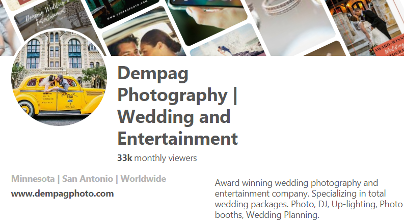 Dempag Photography | Wedding and Entertainment Pinterest
