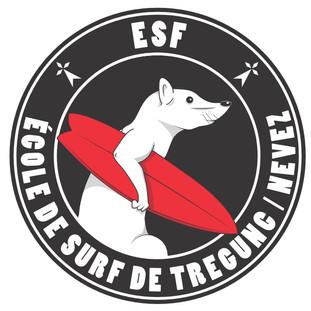logo de l'école de surf de tregunc nevez