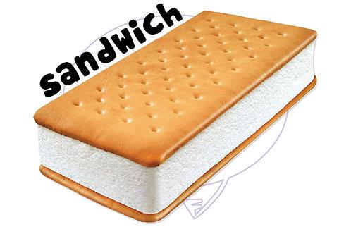 Sandwich Panna Biscotto Gelato - 55 g 33 pz