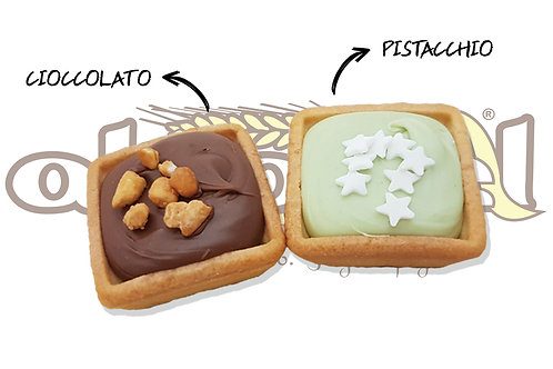 Tartallette Cioccolato e Pistacchio  1.2 kg