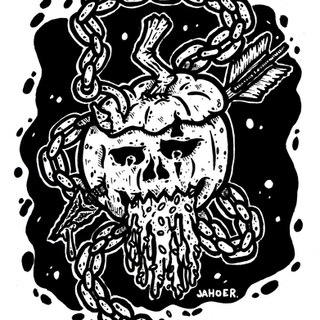 pumpkin skull design