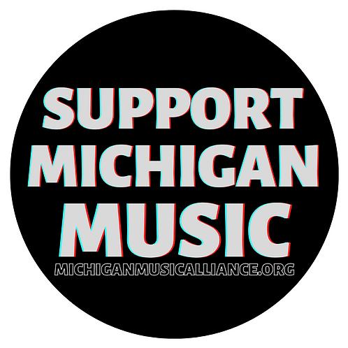 Support Michigan Music - Sticker