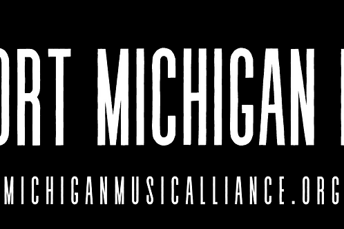 Support Michigan Music - Sticker