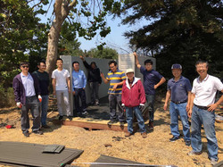 Building a storage shed,  Aug 2017