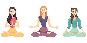 2068022-ensemble-de-yoga-femme-vectoriel