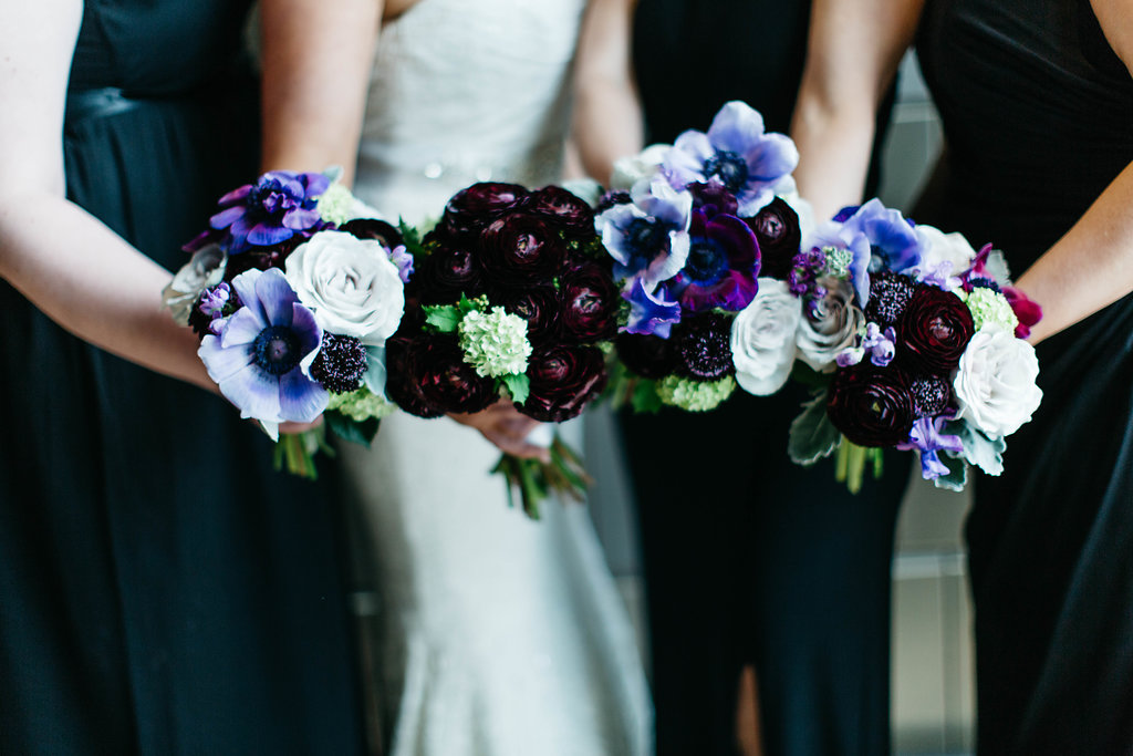 Dark and Moody Wedding Flowers