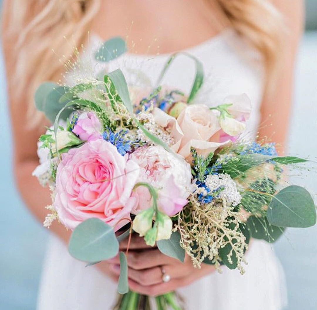 soft garden flower bridal bouquet