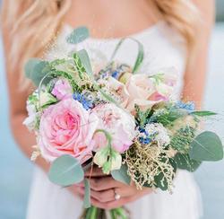 soft garden flower bridal bouquet