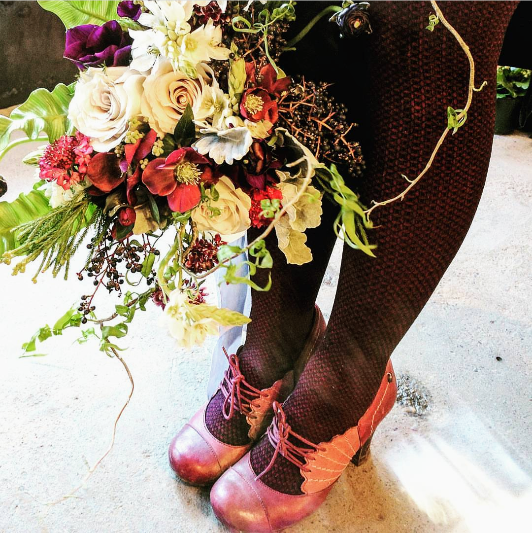 shoes and blooms