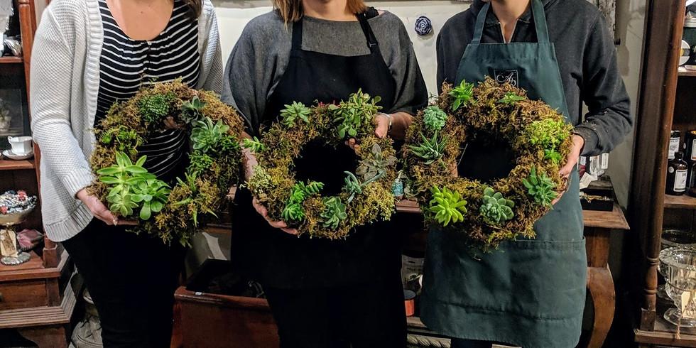 Live Succulent Wreath Workshop