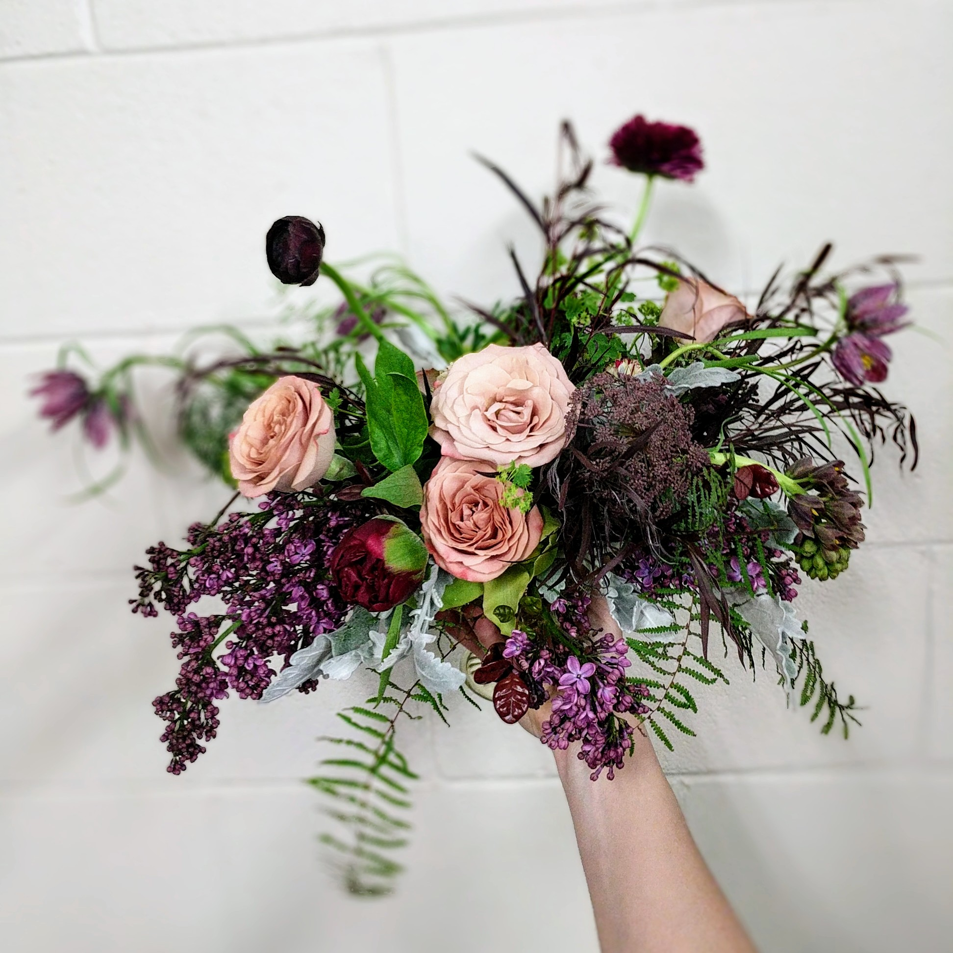 Combo rose bridal bouquet