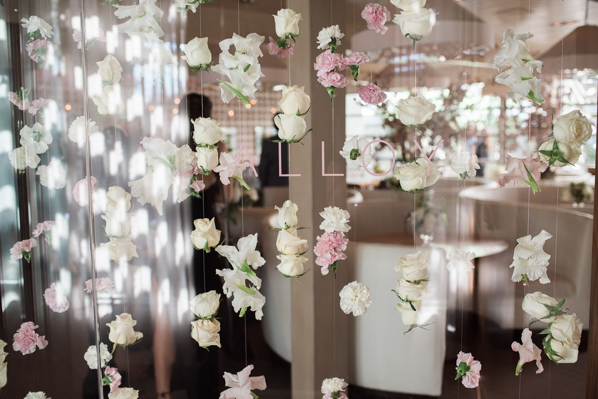 Alloy Wedding- romantic floral curtain