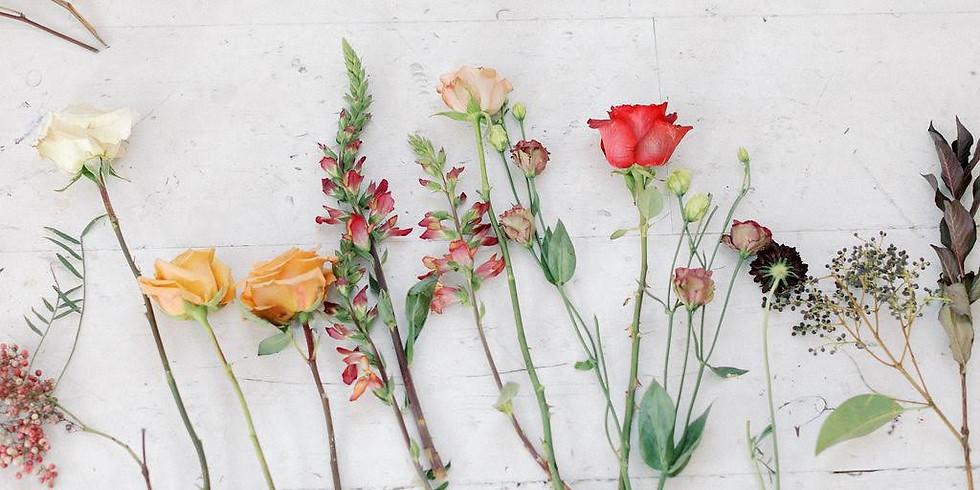 Live Virtual Fall Arrangement Workshop- and flower kit